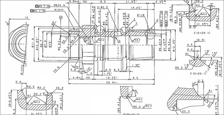 複雑形状の部品加工